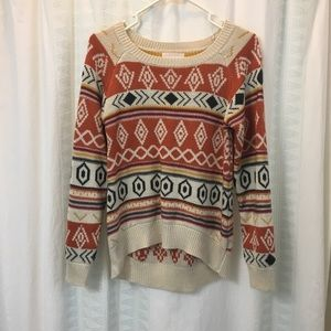 Skies Are Blue Anthropologie Tribal Sweater
